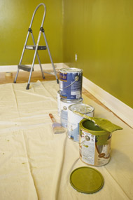Painting Materials In Pre-Finished Room